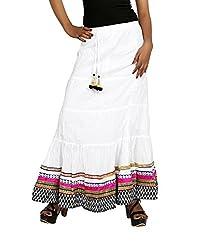 Sringar Women's Skirt (As1062_White_40)