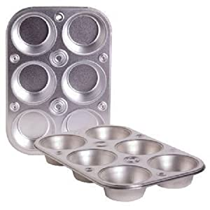 Toaster Oven 6-cup Non-stick Metal Muffin & Cupcake Pan