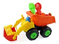 Beach Toys Bulldozer Dump Truck Set for Kids with Sand Playset(assorted colors) from Liberty Imports