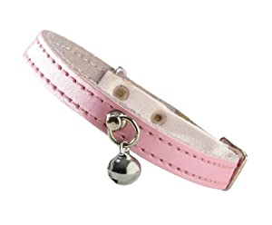 "Bobby ""irisé"" Pink Cat Collar"