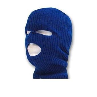 Decky Face Ski Mask 3 Hole (7 Colors Available) (Royal)