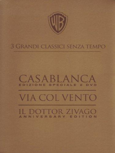 3 grandi classici senza tempo: Casablanca + Via col vento + Il dottor Zivago [4 DVDs] [IT Import]