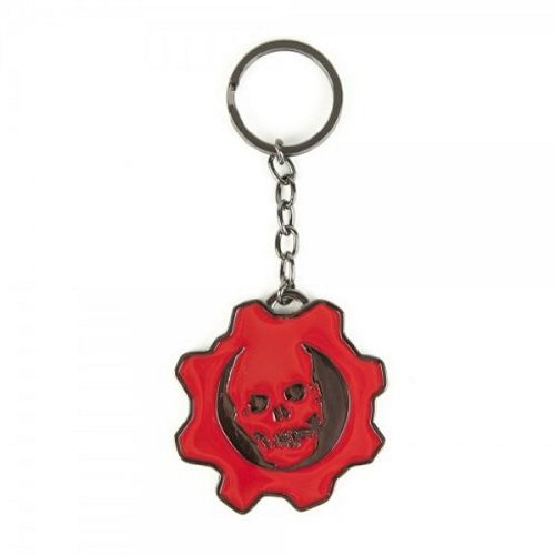 Gears of War Red Enamle Keychain