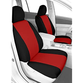 Chrysler Crossfire 2 x Fronts Luxury RED /& BLACK Leatherette Car Seat Covers