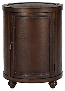 Safavieh American Homes Collection Felix Side Table, Dark Brown