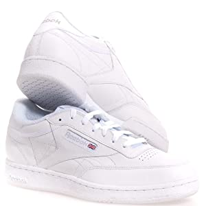 Men's Reebok, Club C extra wide 4e Sneaker WHITE GREY 14 4E