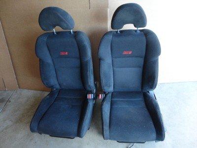 06-10 Honda Civic Si Driver & Passenger Front Seats W/ Airbag Black Oem Seat (E.C.A.P) front-962119