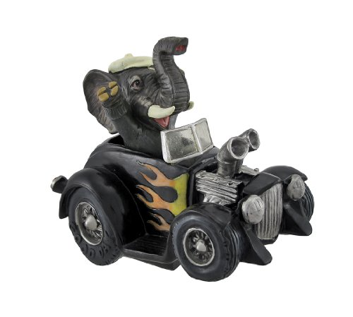 Joyriding Elephant in Hot Rod Coin Bank