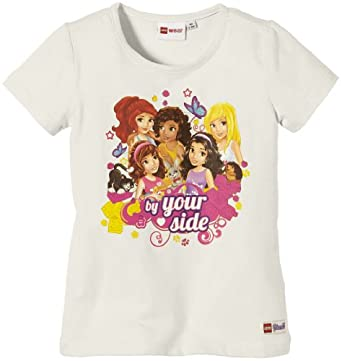 LEGO Wear T-shirt  Col ras du cou Manches courtes Fille - Blanc - Wei (102 SNOW WHITE) - FR : 5 ans (Taille fabricant : 110)