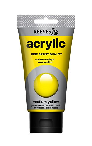 reeves-artist-acrylic-colour-paint-tube-75ml-medium-yellow
