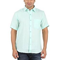 Gm Men's Formal Shirt (GM6004_Light Blue_42)