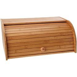 Ambiance Nature 507099 - Panera de bambú con abertura de persiana