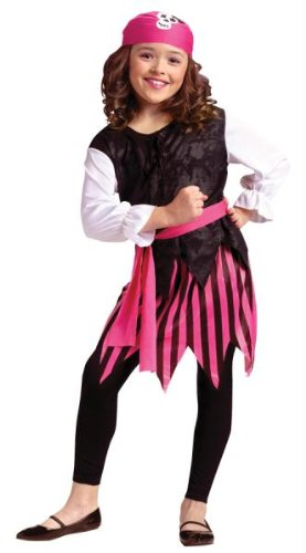 Costumes For All Occasions FW8738SM Caribbean Pirate Girl Ch 4-6