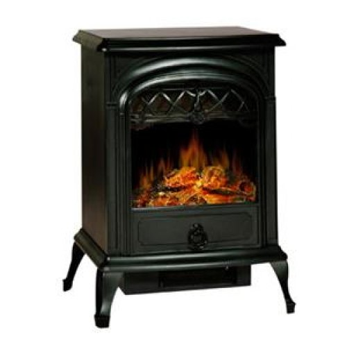 """Lofty #Sj15Sfb Lofty Galway Sj15Sfb Small Free Standing Heater Electric Stove With Glass View Window, Single Door, Realistic Log Flame Effect, Safety Thermal Cut-Off Device, 750W And 1500W Heat Settings, Dimensions: 10.63"""" X 15.00"""" X 22.13"""""""