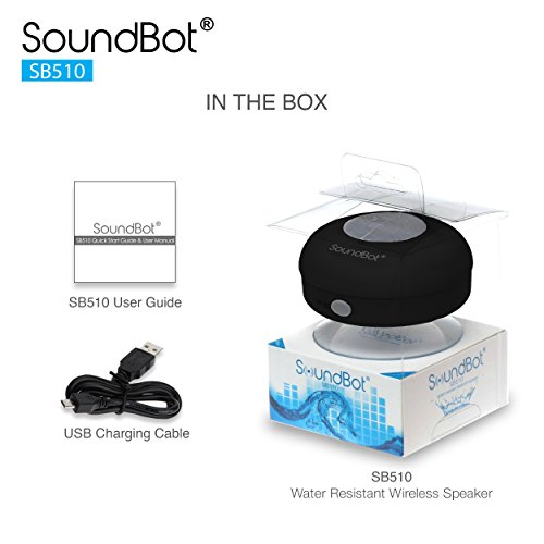 SoundBot SB510 Mini Wireless Shower Speaker