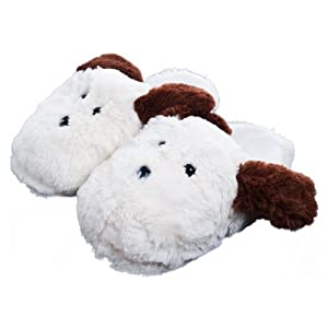 Kids Cuddlee Slippers - Puppy Dog - (Ages 6-12)
