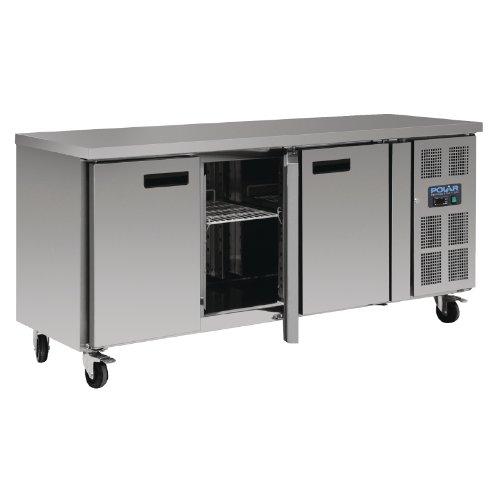 Stainless Steel Polar 3 Door Counter Fridge 339 Ltr 860(h) X 1795(