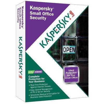 New Kaspersky Small Office Security 1 Year 1 File Server 5 Pc Cd-Rom English Retail Reliable