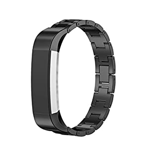 Dreaman Stainless Steel Watch Band Wrist Strap For Fitbit Alta Tracker Black