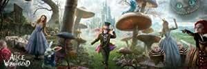 Alice In Wonderland Triptych Johnny Depp Giant Movie Door Poster 21 x 69 inches