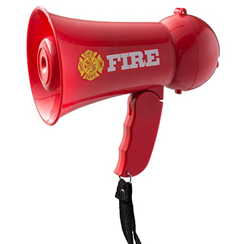 Great Features Of Pretend Play Kids Fire Fighter's Megaphone (Bullhorn) with Siren Sound and Handhel...