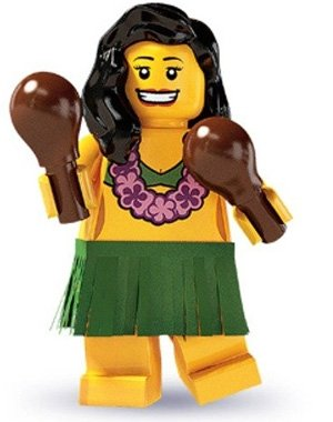 LEGO Minifigure Collection Series 3 LOOSE Mini Figure Hula Dancer - 1