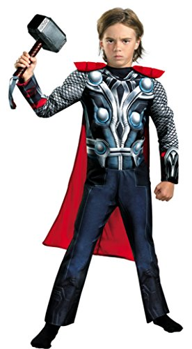 Boys Thor Avengers Classic Muscle Kids Child Fancy Dress Party Halloween Costume
