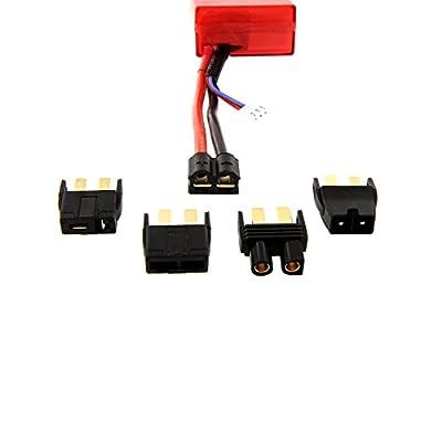 Venom 25C 2S 5000mAh 7.4V Hard Case LiPo Battery with Universal Plug (EC3/Deans/Traxxas/Tamiya) x4 Packs