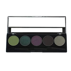 Purely Pro 5-Well Eyeshadow Palette Green Eyed Lady by Purely Pro Cosmetics