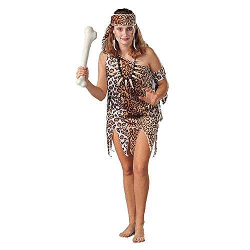 Adult Cavewoman Halloween Costume (Size: Standard 8-12)