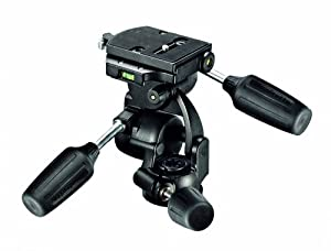 Manfrotto 808RC4 3-Way Standard Head with Quick Release Plate 410PL (Black); manu. price = $159.88