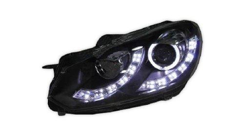 Auptech Volkswagen Golf 6 2010 Headlight Assembly Angel Eyes Halogen Hid Led Projector Headlight Lamp