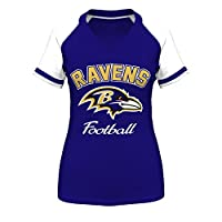 Baltimore Ravens Purple Go For Two IV Women's T-Shirt from Majestic