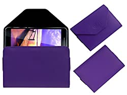 Acm Premium Pouch Case For Vizio Vz-K02 Tablet Flip Flap Cover Holder Purple