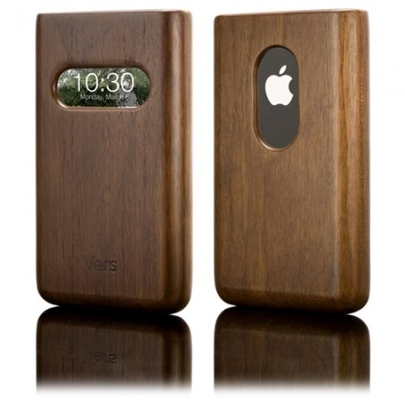 Vers Handcrafted Wood InfoCase for iPhone - Walnut
