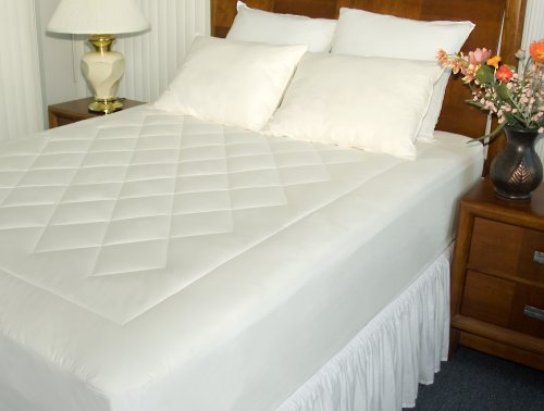 Newpoint Organic Cotton Queen Mattress Pad with Organic Cotton Fiber Fill
