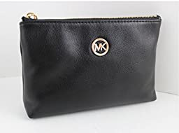 Michael Kors Fulton Travel Leather Case - Black - 35T5GFTM4L