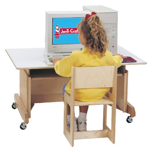 Buy Low Price Comfortable Computer Table – White – School & Play Furniture (B002LRV07W)