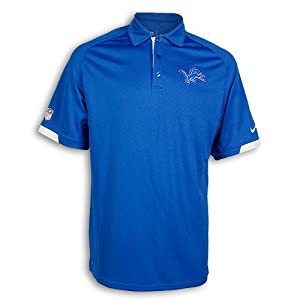 Detroit Lions Dri-FIT Blue Practice Polo by Nike by Nike