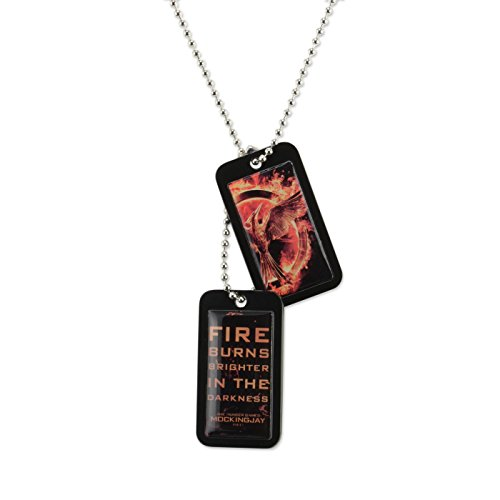 "Hunger Games Mockingjay Movie Part 1 - Epoxy Dog Tags ""Mockingjay with Quote"" - 1"