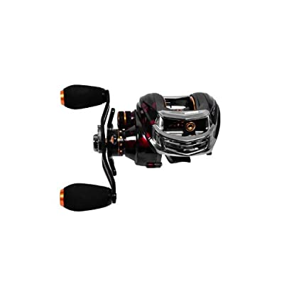 EverTrust(TM) UK Trulinoya TS1200 14BB 6.3:1 Pesca Right Hand Sea Bait Casting Fishing Reel 13+1 Ball Bearings+One-way Clutch Red by EverTrust UK