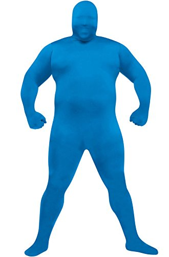 [Skin Suit Plus Size Halloween Costume (Blue) (X-Large)] (College Girls Group Halloween Costumes)