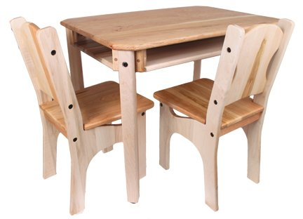 Childs Cherry & Maple Wood Table and 2 Chairs, USA Made
