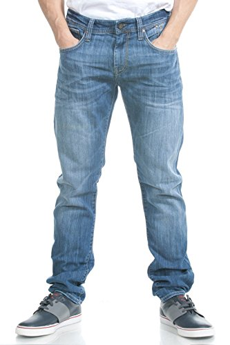 Mavi Men's Jake Midrise Slim Fit Denim in Light Wash, 36