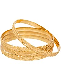 The Luxor Gold Plated Designer Daily Wear Bangles Set For Women