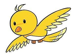 Cartoon Yellow Flying ...