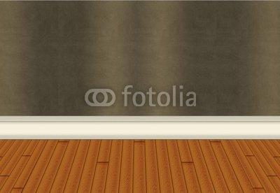 Wallmonkeys Peel and Stick Wall Decals - Wall with Harwood Floor - 18