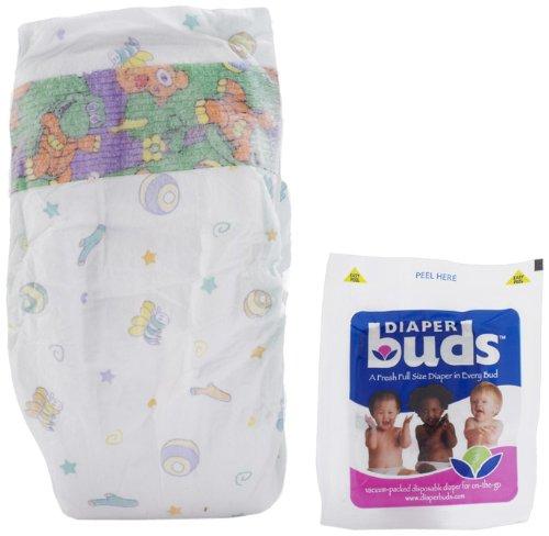 Diaperbuds Vacuum Sealed Premium Disposable Diapers - size 3, 30ct multipack