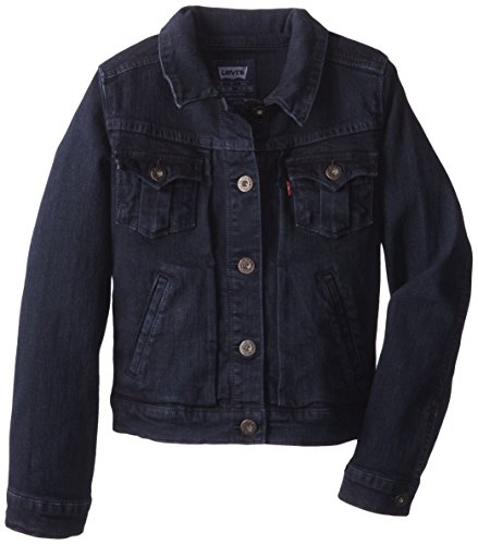 Levi's Big Girls' New Attitude Denim Jacket Tailored Indigo, Tailored Indigo, Large