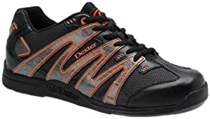 Dexter Zig Zag Bowling Shoes, Black/Grey/Orange, 14